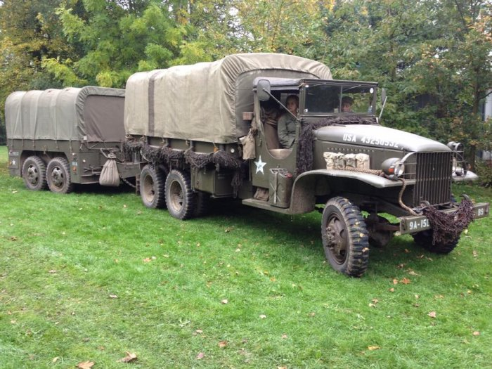 GMC CCKW 353 L1 and M7 Brill Trailer