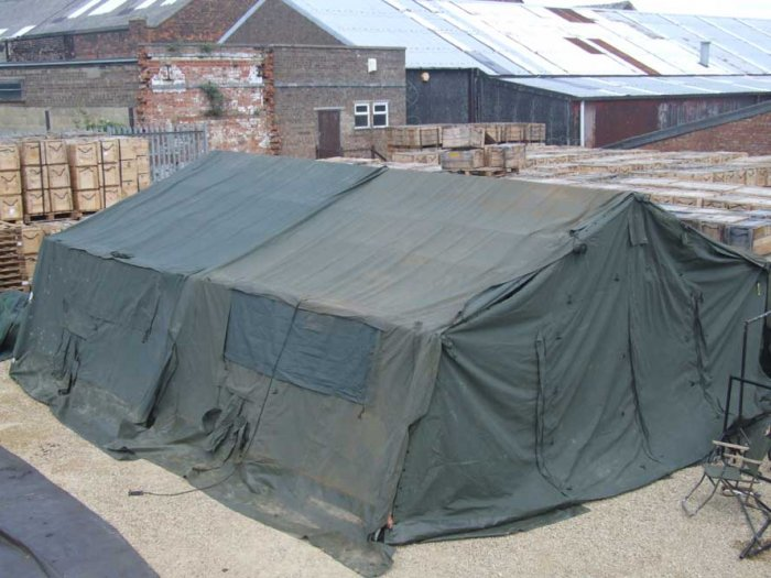 British Army 18x24 Frame Tent Complete
