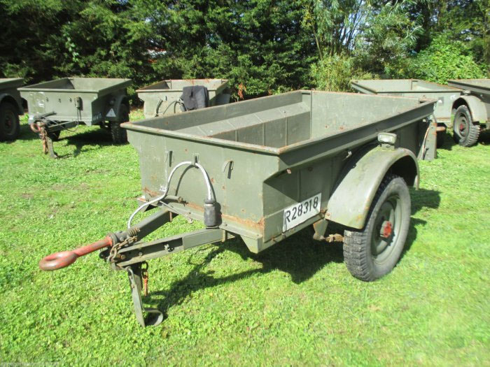 Army 1950's US Style Jeep Bantam Trailer 1/4 T Utility Trailer
