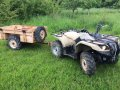 Military Yamaha 450cc ATV plus Logic 2 trailer