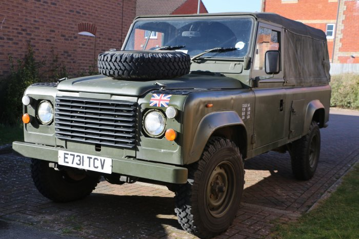 Ex British Military Army Land Rover 110 2.5NA Soft-top ...