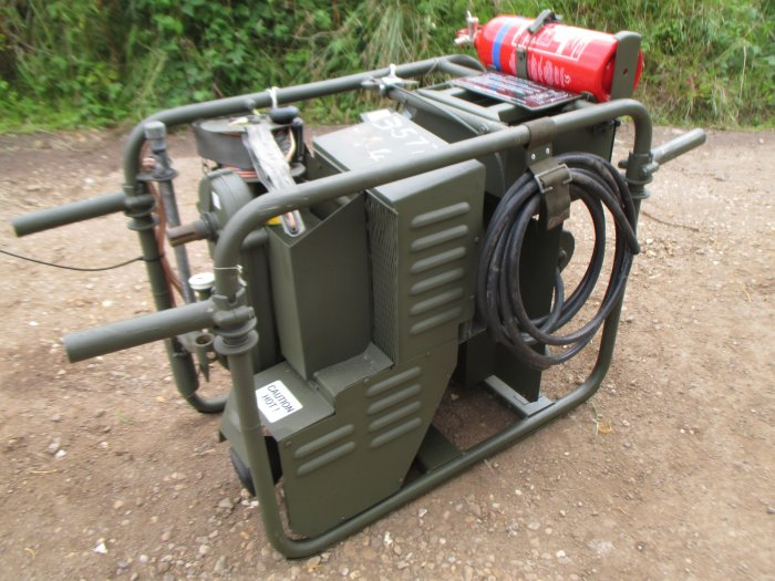 British Army Mobile Fluid Transfer Pump Lister Petter Generator