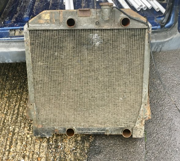 1958 Simca army lorry radiator