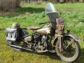 Harley Davidson WLC 750cc 1943 with dutch registration out of old collection