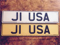 Unique number plate J1 USA