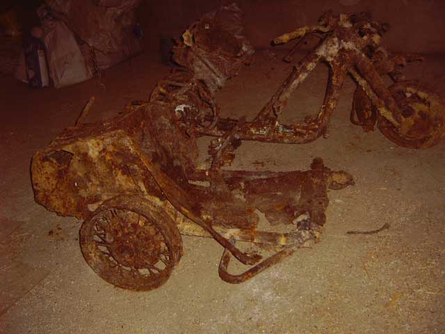 Zundapp ks750 dug up after 64 years in normandy