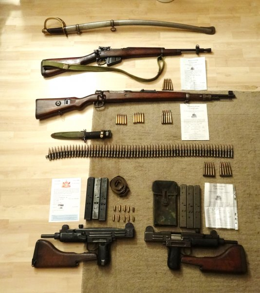 Collection Of deactivated weapons and militaria