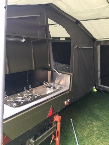 pair trailer tent with awning